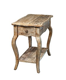 Alaterre Furniture Rustic - Reclaimed Chairside Table, Driftwood