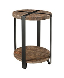 """Modesto 20""""Dia. Reclaimed Wood Round End Table"""