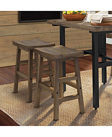 "Pomona 26""H Reclaimed Wood Counter Stool"