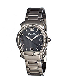 Bertha Quartz Fiona Collection Silver And Black Stainless Steel Watch 36Mm
