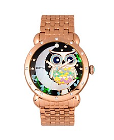 Bertha Quartz Ashley Collection Rose Gold Stainless Steel Watch 38Mm