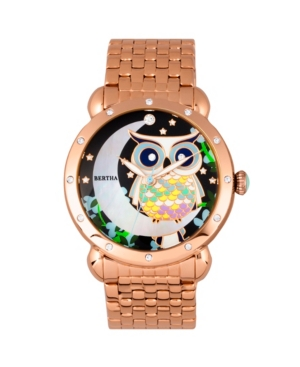 Quartz Ashley Collection Rose Gold Stainless Steel Watch 38Mm