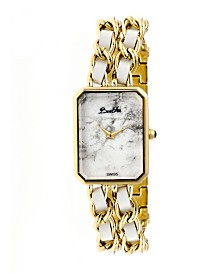 Bertha Quartz Eleanor Collection Gold And White Stainless Steel Watch 26Mm