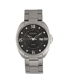 Bertha Quartz Amelia Collection Silver Stainless Steel Watch 38Mm