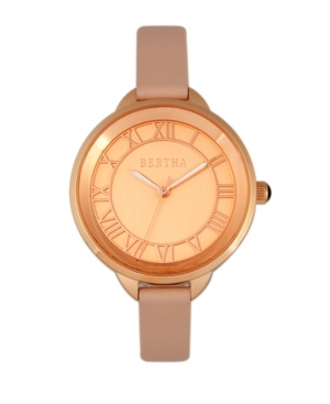 Quartz Madison Collection Light Pink And Rose Gold Leather Watch 36Mm