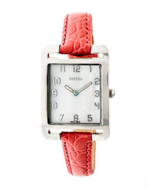 Bertha Quartz Marisol Collection Coral Leather Watch 21Mm