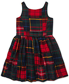 Polo Ralph Lauren Toddler Girls Tartan Patchwork Cotton Dress