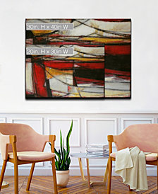 Ready2HangArt 'Excited' Red Abstract Canvas Wall Art Collection