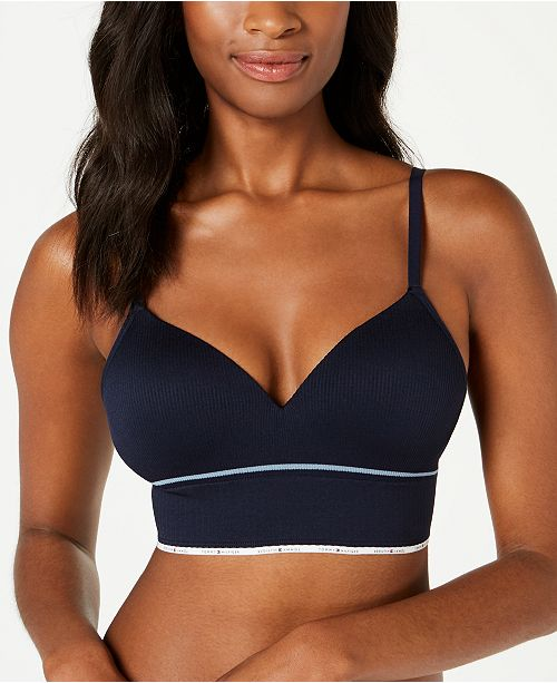 13dcf326701c4 Tommy Hilfiger Women s Seamless Ribbed Push-Up Bralette R70T052 ...