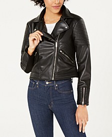 Quilted Moto Jacket, Created for Macy's