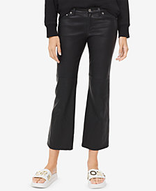 MICHAEL Michael Kors Leather Crop-Flare Pants