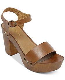 Madden Girl Lift Wooden Platform Sandals