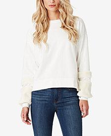 Jessica Simpson Juniors' Molly Faux Fur-Trim Sweatshirt