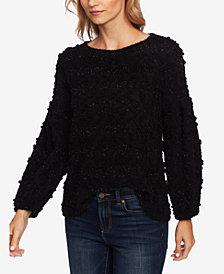 CeCe Striped Bouclé-Knit Sweater