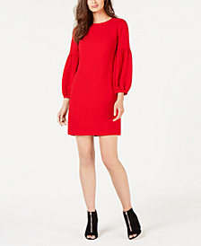 Trina Turk Passion Balloon-Sleeve Teardrop Dress