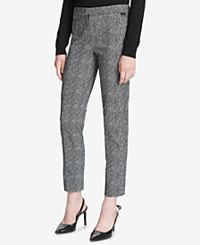 Calvin Klein Printed Straight-Leg Pants