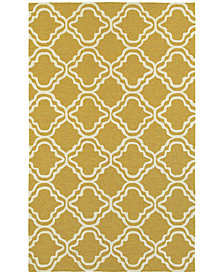 "Tommy Bahama Home  Atrium Indoor/Outdoor 51112 Gold/Ivory 3'6"" x 5'6"" Area Rug"