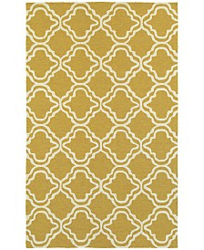 "CLOSEOUT! Tommy Bahama Home   Atrium Indoor/Outdoor 51112 Gold/Ivory 3'6"" x 5'6"" Area Rug"
