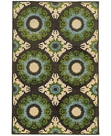 Home  Jamison 53307 Black/Green Area Rug