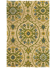 Tommy Bahama Home  Valencia 57701 Beige/Green 10' x 13' Area Rug