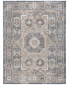 "KM Home Harper HA3107 Navy 6'7"" x 9'6"" Area Rug"