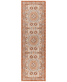 "KM Home Harper HA3122 Spice 2'3"" x 7'3"" Runner Area Rug"