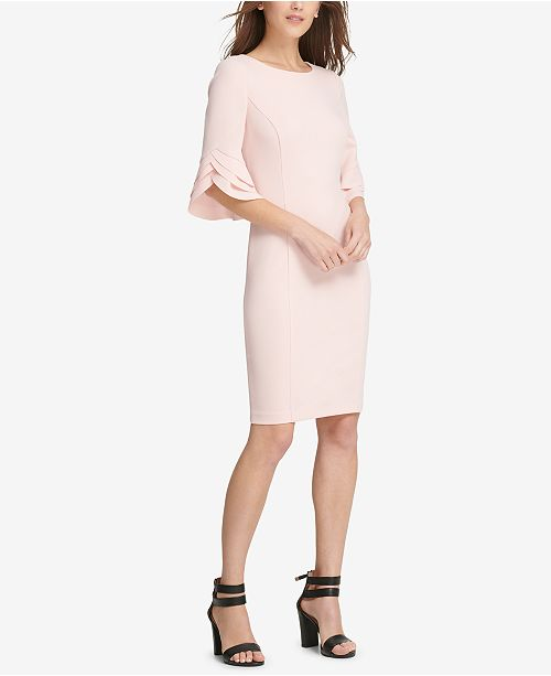 7e41538c4ba536 DKNY Triple Ruffle-Sleeve Dress