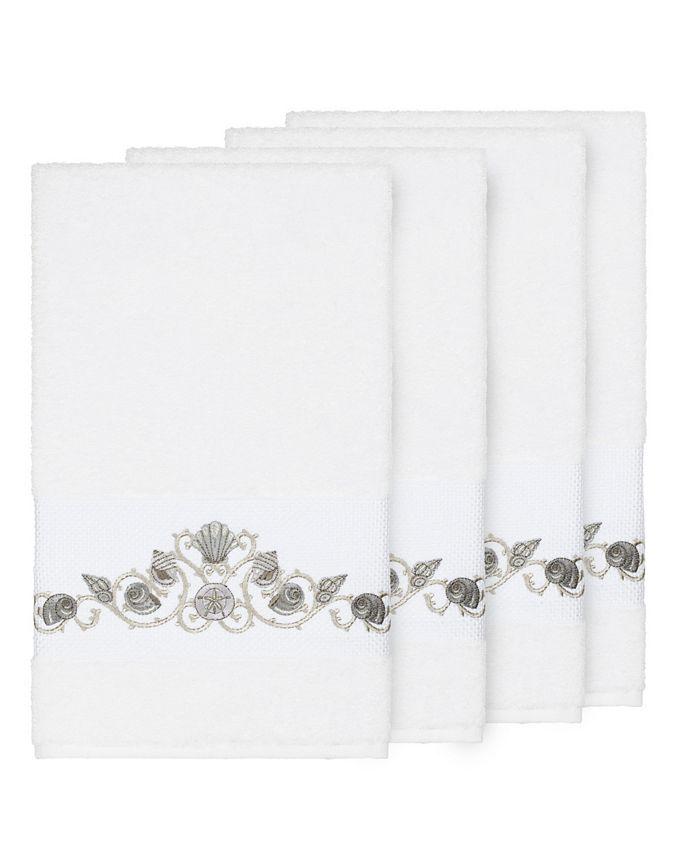 Linum Home - Bella 4-Pc. Embroidered Turkish Cotton Bath Towel Set