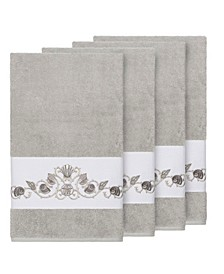Bella 4-Pc. Embroidered Turkish Cotton Bath Towel Set