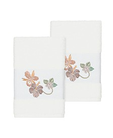 Caroline 2-Pc. Embroidered Turkish Cotton Hand Towel Set