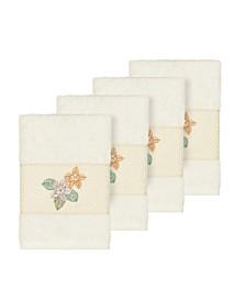 Caroline 4-Pc. Embroidered Turkish Cotton Washcloth Set