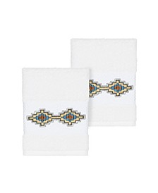 Gianna 2-Pc. Embroidered Turkish Cotton Washcloth Set