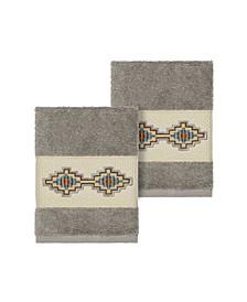 Gianna 2-Pc. Embroidered Turkish Cotton Washcloth Set