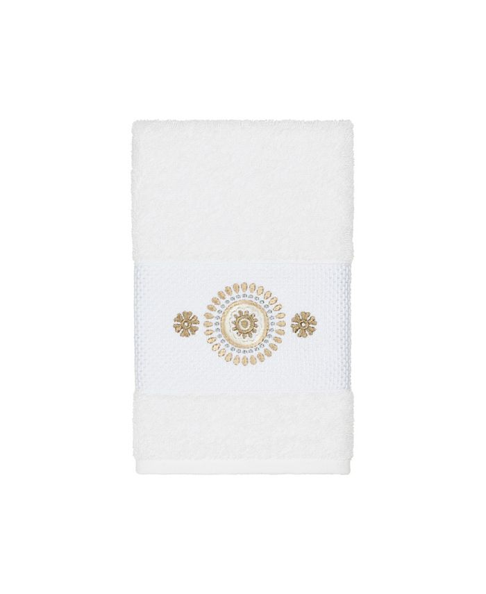 Linum Home - Isabelle Embroidered Turkish Cotton Hand Towel