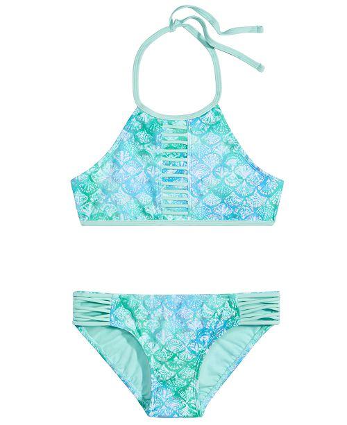 Summer Crush Big Girls 2-Pc. Printed Strappy Bikini