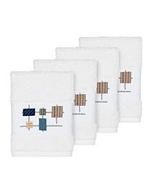 Khloe 4-Pc. Embroidered Turkish Cotton Washcloth Set