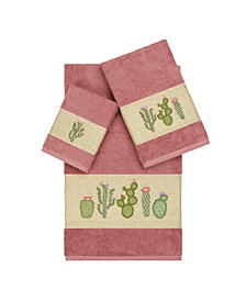 Linum Home Mila 3-Pc. Embroidered Turkish Cotton Towel Set