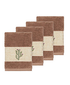 Linum Home Mila 4-Pc. Embroidered Turkish Cotton Washcloth Set