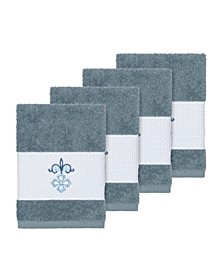 Quinn 4-Pc. Embroidered Turkish Cotton Washcloth Set