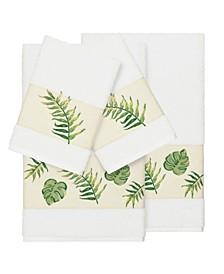 Zoe 4-Pc. Embroidered Turkish Cotton Bath and Hand Towel Set