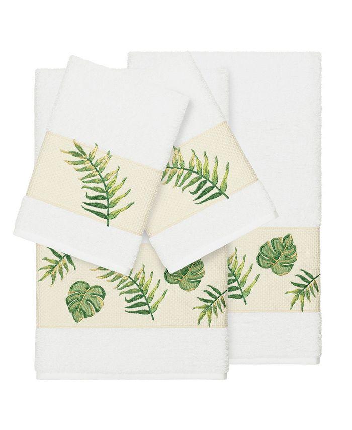 Linum Home - Zoe 4-Pc. Embroidered Turkish Cotton Bath and Hand Towel Set