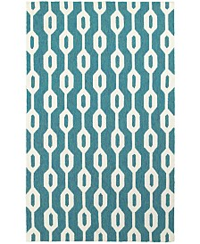 CLOSEOUT! Tommy Bahama Home   Atrium Indoor/Outdoor 51102 Blue/Ivory 5' x 8' Area Rug