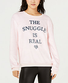 Hybrid Apparel Juniors' Snuggle-Graphic Sweatshirt