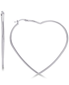 Large Heart Shape Hoop Earrings