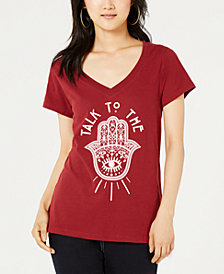 Love Tribe Juniors' Talk Graphic-Print T-Shirt
