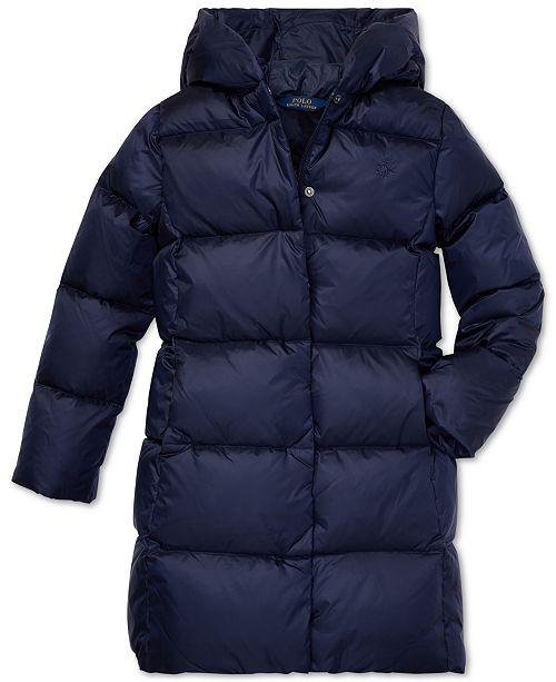 1d586b703b45d2 Polo Ralph Lauren Big Girls Hooded Down Jacket   Reviews - Coats ...