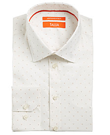 Tallia Men's Slim-Fit Non-Iron Performance Stretch Metallic Dot Dress Shirt