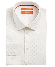 Tallia Men's Slim-Fit Non-Iron Performance Stretch Metallic Dot Dress Shirt