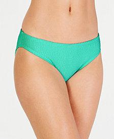 Hula Honey Pucker Up Textured Hipster Bikini Bottoms, Created for Macy's