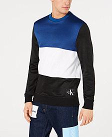Calvin Klein Jeans Mens Oversized Colorblocked Sweatshirt